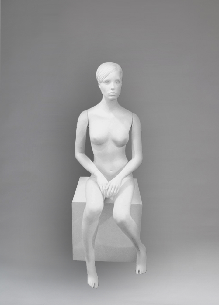 Female mannequin of the Arina series sitting 07