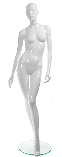 Female mannequin of the Shiny GL-2 series white