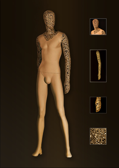 Male mesh mannequin of the Gimp series