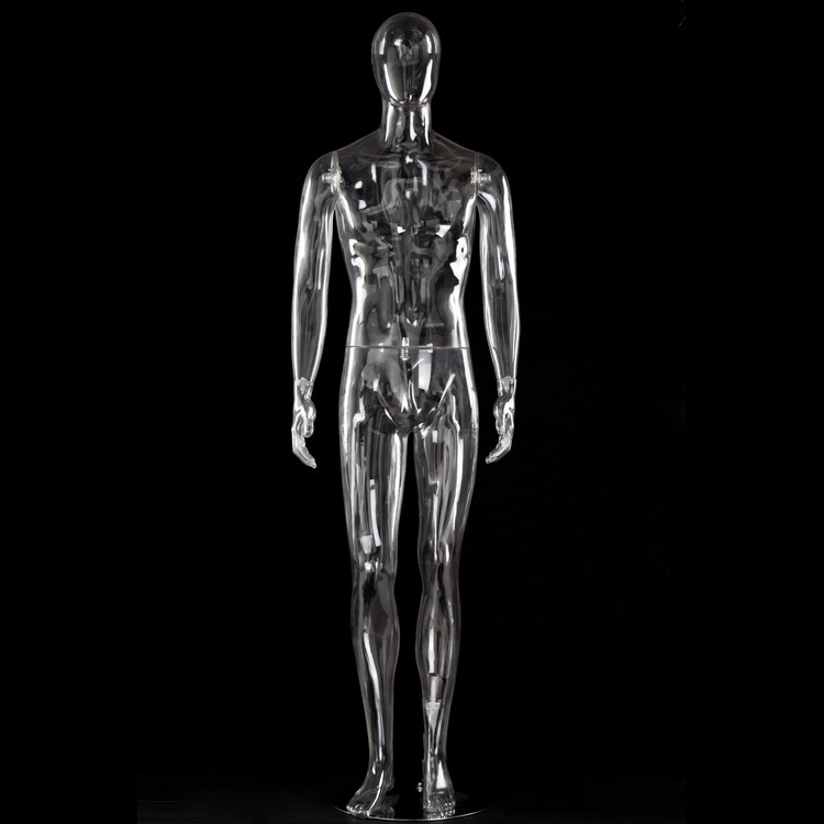 Full-height male transparent mannequin