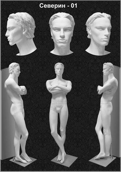 Male mannequin of the Severin series 01