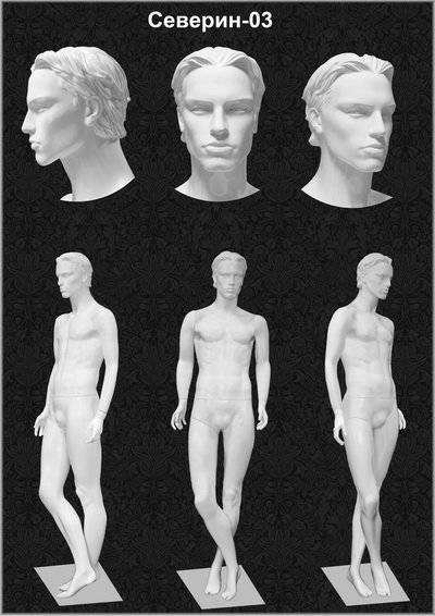 Male mannequin of the Severin series 03