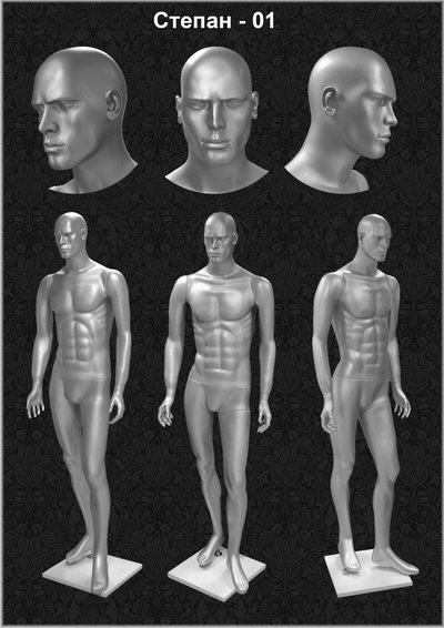 Male mannequin of the Stepan series 01
