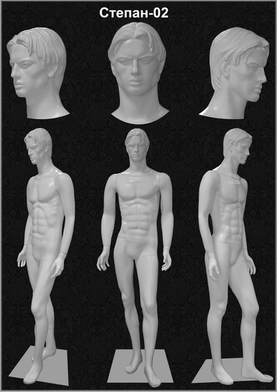 Male mannequin of the Stepan series 02