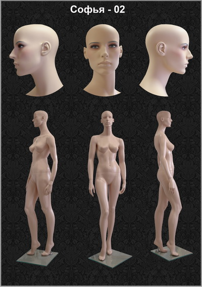 Female mannequin of the Sofia-02 series