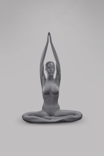 Female mannequin of the Yoga-3 series