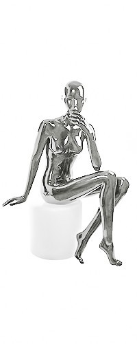 Shiny-Chrome 3 Female Mannequins