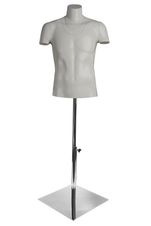 PhotoHit 2 male torso for photography with stand