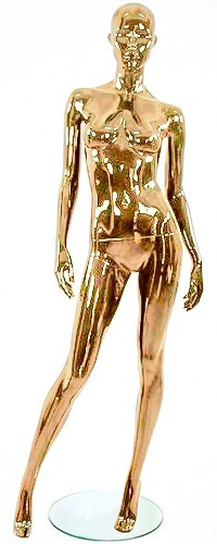 Shiny Gold 1 Female Mannequins