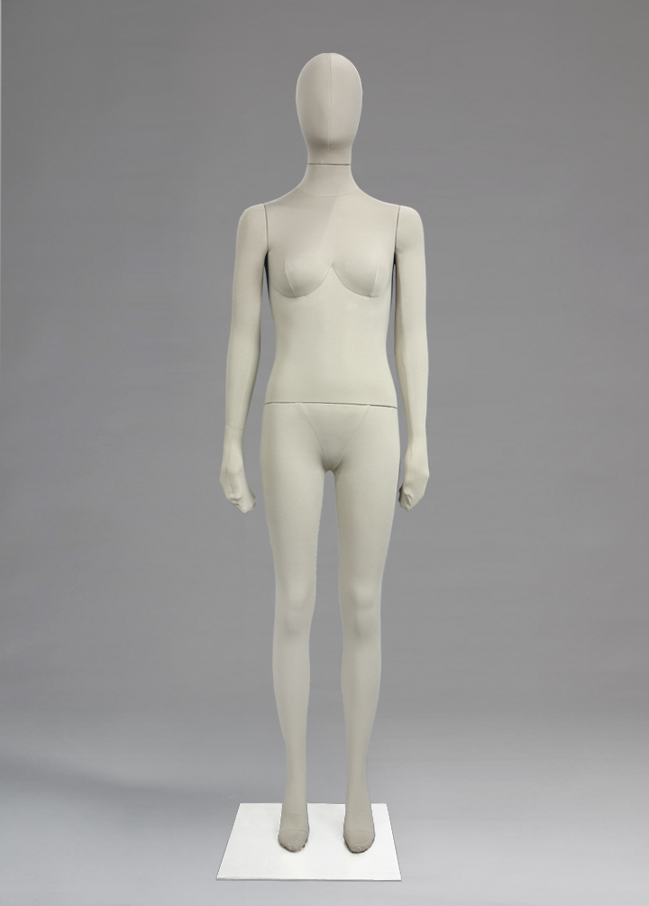 Female fabric mannequins of the Contemplation series