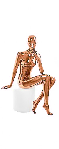Shiny-Copper 3 Female Mannequins