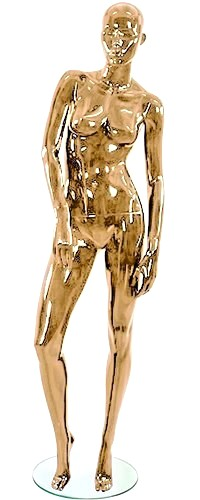 Shiny Gold 4 Female Mannequins