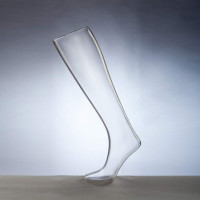 In stock! Transparent leg form for women, socks, elongated on a stand - DTFL-002