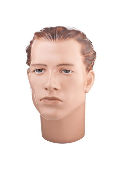 The head of the male mannequin Arseny