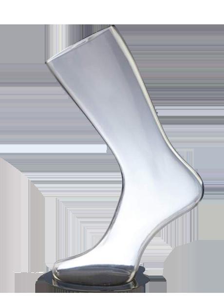 In stock! Women's leg shape for socks on a stand transparent - DTFL-003
