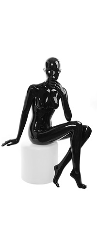Female mannequin of the Shiny GL-3 series black