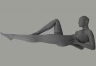 Female mannequin of the Yoga-2 series