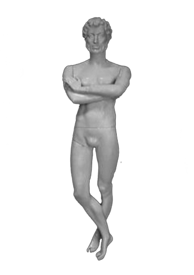 Male mannequin of the Poet series