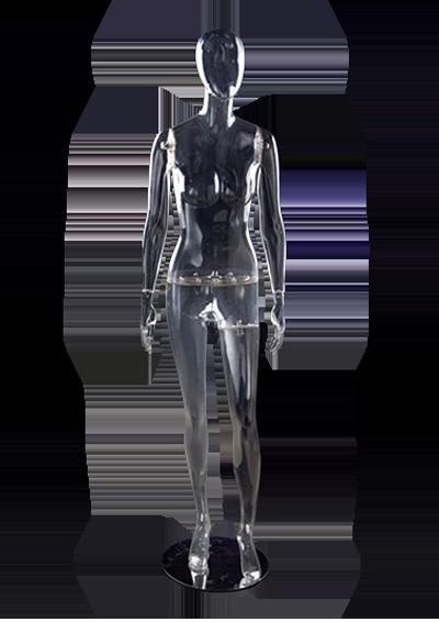 Full-height female mannequin transparent