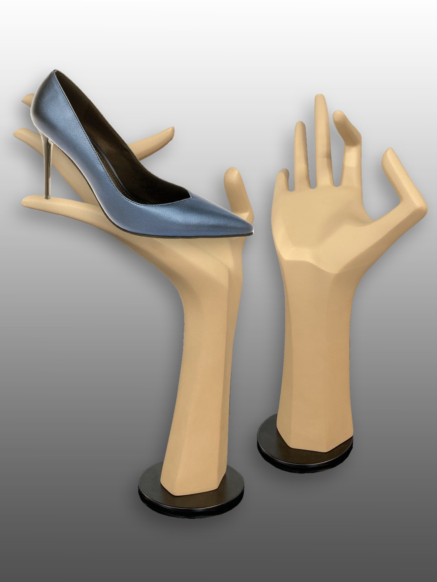Hand demonstrator for shoes