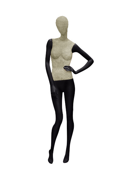 Female fabric mannequins of the Nostalgie series SDV-2