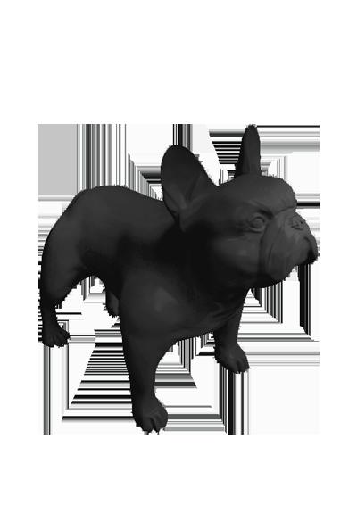 Stylized dogs Bulldog Kevin
