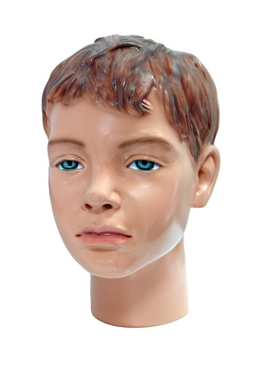 The head of the children's dummy Volodka