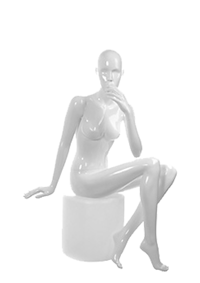Female mannequin of the Shiny GL-3 series white